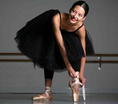 16-year-old Australian Ballet School student Hannah O'Neill, pictured in a studio at the school in Melbourne.